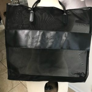 Burberry Fragrance Large Black Nylon Tote NWT